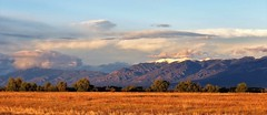 Serendipity (Patricia Henschen) Tags: alamosa colorado sanluisvalley goldenhour mountains clouds rural southriverroad backroad autumn snow sangredecristo