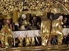 Altar of St. James the Greater, Levoča, Slovakia, 1508-1517 (DeBeer) Tags: masterpauloflevoča masterpaul levoča slovakia art sculpture statue woodcarving limewood highest gothic lategothic slovakart early16thcentury madonna virginandchild babyjesus christchild stjohnevangelist stjohntheapostle stjamesthegreater stjamestheapostle madonnaandchild madonnawithchild carving carver polychromy gilding unesco altar altarpiece wingaltar wingedaltar lastsupper predella apostles