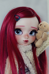 Little Miki *tomorrow* (-Poison Girl-) Tags: miki 2017 for adoption fa pullip pullips doll dolls custom customs poisongirlsdolls poisongirldolls poison girl redhead red hair wig long straight rewigged eyes eyechips realistic handmade handpainted repaint repainted paint blue eyebrows eyeshadow eyelashes freckles pecas nose carving carved mouth lips sweet cute natural makeup faceup junplanning jun planning groove grooveinc japan collector kawaii
