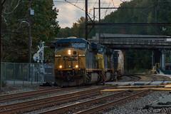 CSX Q404-28 (Dan A. Davis) Tags: csx freighttrain locomotive railroad train woodbourne pa pennsylvania es44ah cw44ah et44ah q404