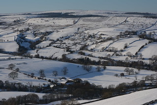 Winter in Combs, Peak District National Park, Derbyshire, England.