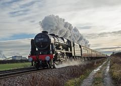 Royal Performance (DWH284) Tags: 46100 royalscot royalscotclass460 uksteam steamtrain yorkyuletideexpress littlefenton