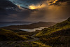 View from The Old Man of Storr (mandyhedley) Tags: theoldmanofstore landscape rough scotland britishisles rockclimbing mountainclimbing clouds storm explored skye hebrides britain holiday contrast ngc explore sunrise nature water