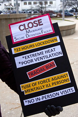 Picket Line Outside Milwaukee County Court House to Close the Milwaukee Secure Detention Facility Milwaukee Wisconsin 12-20-17  9012 (www.cemillerphotography.com) Tags: rich poor massincarceration racism mentallyill violence paroleofficer billionaires profits stadium sports basketball humanrights torture solitaryconfinement prison revocation jail bail mistreatment dueprocess law legal court overcrowding africanamericans blacks force lockdown penalsystem discrimination wealth poverty probation arrested crime