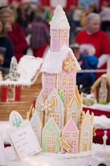 sugar town (raspberrytart) Tags: festivaloftrees christmas gingerbread gingerbreadhouse gingerbreadcookie cookie candy decorating nikon d7100