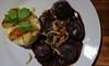 Heaven and Earth (frankdorgathen) Tags: food potatoes blackpudding plate table lunch café restaurant diekokerei zeche zollverein essen stoppenberg ruhrgebiet onion
