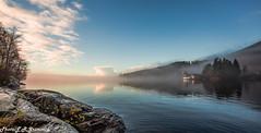 Nordåsvannet (2000stargazer) Tags: nordåsvannet bergen norway lake reflections sunrise morningfog landscape waterscape november canon nature