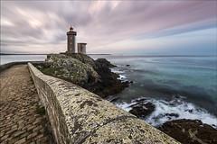 Minou Lighthouse (Tony N.) Tags: france bretagne britanny finistère finistere perspective sea mer seascape lighthouse phare minou petitminou plouzané poselongue longexposure sky ciel nuages clouds tonyn tonynunkovics d810 nikon nikkor1635f4 vanguard nd64