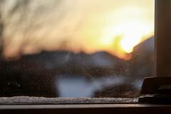 Christmas sunrise - HBWW! (RPahre) Tags: hbw hww window bokeh dawn sunrise sun frost christmas