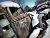 Forgotten Fords (Dave* Seven One) Tags: ingramtruckbody ford worktruck rackbody stakeside fordf6 f6 snow rusty rust rot rotting rotted decay decaying forgotten abandoned junk scrap salvage cellphone cellphonephotography fomoco