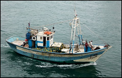 Fishing boat in Tangiers (Country Girl 76) Tags: fishing tangiers morocco people crew equipment