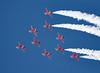 Red Arrows (Bernie Condon) Tags: riat airtattoo tattoo ffd fairford raffairford airfield aircraft plane flying aviation display airshow uk redarrows reds arrows raf rafat royalairforce formation team aerobatic bae hawk trainer jet military warplane