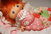 nap time (LegionCub) Tags: strawberryshortcake custard cat sleeping sweetsleeper bed kenner doll quilt