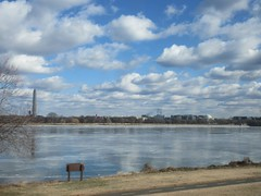Ice on the Potomac River with Washington Monument and Jefferson Memorial, Washington, D.C. (Paul McClure DC) Tags: washingtondc districtofcolumbia jan2018 river scenery historic architecture winter