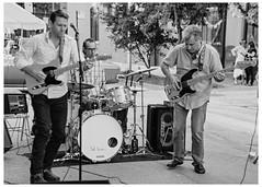 Three Piece Combo (swanksalot) Tags: music musicians streetfestival wickerpark chicago blackandwhite bw strangers tweeted renegadecraftfair