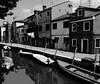 burano monochrome (buch.daniele) Tags: noiretblanc burano venise reflets barques maisons canal lagune daniele buch