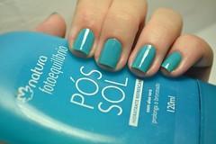 "Desafio Segura a coisa #11: ""Aleatória"".  #PINCEL - Studio35 + Verde - Paixão. (Raíssa S. (:) Tags: esmalte unhas nails nailpolish naillacquer verde green turquesa turquoise cremoso creamy studio35 paixão nailpainting"