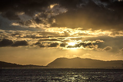 Sunbeam (AzurTones_Photography) Tags: sun clouds sunbeam sky sea sunset frenchriviera landscape mountain mediterranean toulon var paca