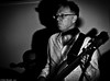 Mad Dogs and Bass Players (Neil. Moralee) Tags: bar neilmoralee man bass guitar player dark sinister mad dogs neil moralee dog portrait old mature entertainer wild shadow harsh live music power powerful barnone graham tuttle taunton somerset uk loud black white bw bandw blackandwhite mono monochrome instrument glasses face electric concert gig people none