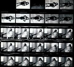 Lisa Philadelphia Studio Photo Shoot Kodak TMY 35mm B&W Contact Sheet Proof Print July 1995 IMG_0008 (photographer695) Tags: lisa philadelphia studio photo shoot kodak tmy 35mm bw contact sheet proof print july 1995