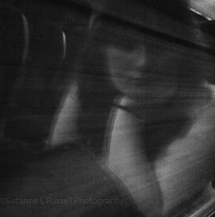 The Girl on the Train (Suzanne L Russell) Tags: oldphonecamera blackwhite reflection window train girlsreflection samsunggts5230 mobilephonephotos thegirlonthetrain mobilephonephotography