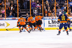 "Kansas City Mavericks vs. Colorado Eagles, December 16, 2017, Silverstein Eye Centers Arena, Independence, Missouri.  Photo: © John Howe / Howe Creative Photography, all rights reserved 2017. • <a style=""font-size:0.8em;"" href=""http://www.flickr.com/photos/134016632@N02/24278166667/"" target=""_blank"">View on Flickr</a>"