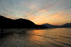 IMG_3085 (jumppoint5) Tags: dusk sunset miyajima orange japan hiroshima clouds sea waves reflection