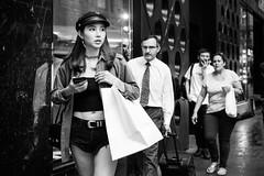 J'ADIOR (McLovin 2.0) Tags: candid street streetphotography style fashion beauty portrait dior jadior prada window shop shopping urban city sydney australia bw monochrome necklace choker sony a7s 85mm