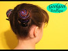 Hair Clip Hand Painted Clip Bun Shell stripe (QLTMAQR26I2LNOHJLR73TVOFFJ) Tags: hairclip hairbun handpainted hairaccessory colorfulhairclip beretclip
