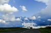 Sur la #route des #vacances (apploadr) Tags: route road way traffic nuages nubes clouds sky ciel cielo vacances travel voyage viajar motion trip дорога небо тучи облака путешествие