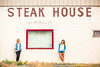 Steak House (Thomas Hawk) Tags: allyjustinak america arco gunstore guns idaho katewesterhout mellodeeclub mellodeeclubsteakhouse steakhouse techondeck techondeck2015 usa unitedstates unitedstatesofamerica knives restaurant fav10 fav25