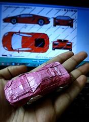 ORIGAMI LAMBORGHINI CAR (fAIL) XD (Neelesh K) Tags: origami lamborghini car neelesh k paperfolding fail