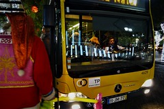 I must go now (*F~) Tags: lisboa portugal humans humanity bus yellow light night happynewyear voyage travelling nightbus meansoftransportation people time thehours