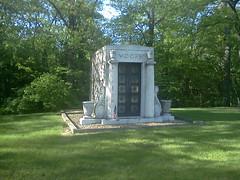 MOORE-Allen.Madorra.Bradford.Jane-Mausoleum-Monticello, IL-c1945-a- (RLWisegarver) Tags: piatt county history monticello illinois usa il
