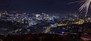 Stuttgart Time Lapse New Year 2018