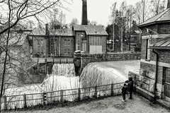 Helsinki Vanhakaupunki (m.pertti) Tags: landscape travel history monochrome blackandwhite rapids river dam vanhakaupunki vanhankaupunginkoski helsinki finland