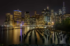 New York city  nightscape- Explored (nguyentruyen344) Tags: new york brooklyn bridge park nightscape sunset