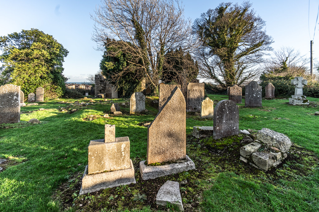 ANCIENT CHURCH AND GRAVEYARD AT TULLY [LAUGHANSTOWN LANE NEAR THE LUAS TRAM STOP]-134555