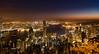 Hong Kong from The Peak 48 minutes before sunrise (Pexpix) Tags: lights night bluehour ships sky water reflections city stars boats longexposure harbour skyscrapers hongkong hongkongisland hk 攝影發燒友