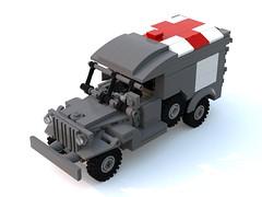 BrickMania WC54 AMBULANCE. (Sabaton_n) Tags: lego brickmania ww2 wwii ww 2 ii car wc54 wc 54 mabulance instruction