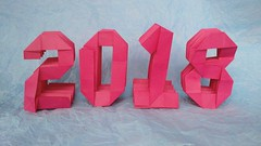 1/365 - Happy 2018! (origami_artist_diego) Tags: origami 365days origamichallenge numbers