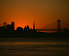 Into the Night (marq4porsche) Tags: sanfrancisco california unitedstates sf urban city sunset night bridge architecture color orange colors mamiya rz67 pro ii d sekor 360mm f6 fujifilm velvia 50