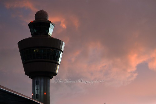Amsterdam Airport Schiphol during a storm...