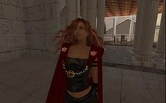 A Spartan Warrior at her home (Gwyneth Llewelyn) Tags: secondlife greek spartan warrior secondlife:region=colonianova secondlife:parcel=colonianovac12pioofficeslandsales secondlife:x=102 secondlife:y=180 secondlife:z=43