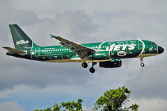 JetBlue New NY Jets (Infinity & Beyond Photography) Tags: jetblue airways airbus a320 new york jets nfl team sports themed aircraft airplane airliners planes ft fort lauderdale airport fll