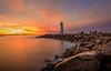 Walton Lighthouse (Simon Huynh) Tags: sunrise lighthouse santacruz walton ocean wave rock