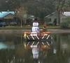 Lake Roberta Snowman (giveawayboy) Tags: lake roberta snowman float christmas decoration lakeroberta robertacircle seminoleheights tampa
