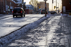 Bloor sidewalk (jer1961) Tags: toronto sidewalk bloorstreet bloorsidewalk slush ice reflection wet salt saltedsidewalk