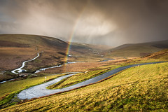 December Weather (Nathan J Hammonds) Tags: winter december 2017 elan valley wales shower rainbow road hills uk nikon d750 rain cloud clouds roads river landscape photography