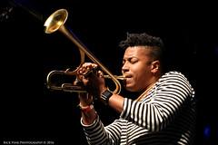 Christian Scott @ Jazz Out! (Rick & Bart) Tags: heerlen jazzout live concert festival jazz funk music christianscottatundeadjuh christianscott trumpet canon eos70d rickvink rickbart thenetherlands jazzfestival parkstadlimburgtheaters
